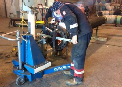 Adjusting the Pipe Alignment Trolley