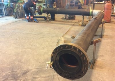 Aligning the Pipe Alignment Trolley